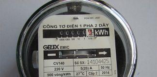 Cách đọc chỉ số đồng hồ công tơ điện