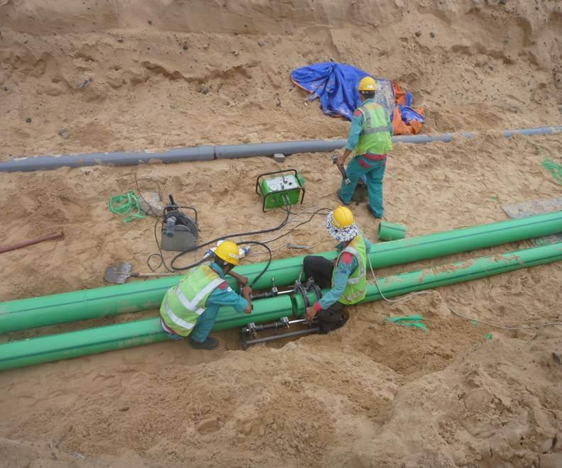 quy trình thi công đường ống cấp nước