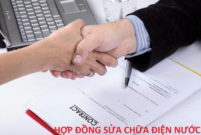 hop-dong-sua-dien-nuoc