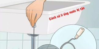 Cách xử lí đường ống thoát nước bị tắc