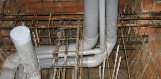 Thi công ống thoát nước xuyên dầm