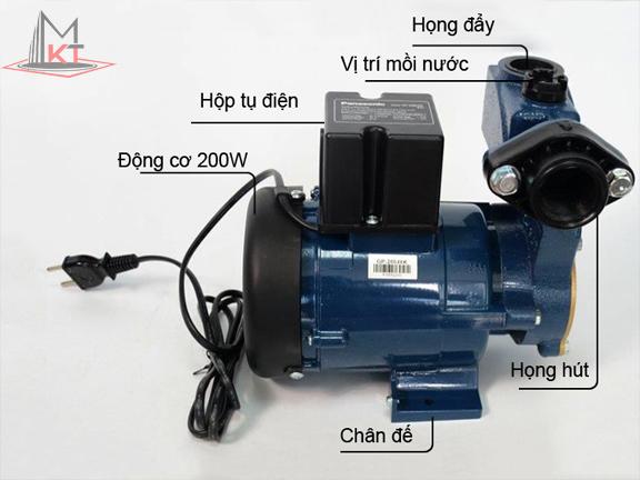 cấu tạo Máy bơm nước Panasonic GP-200JXK