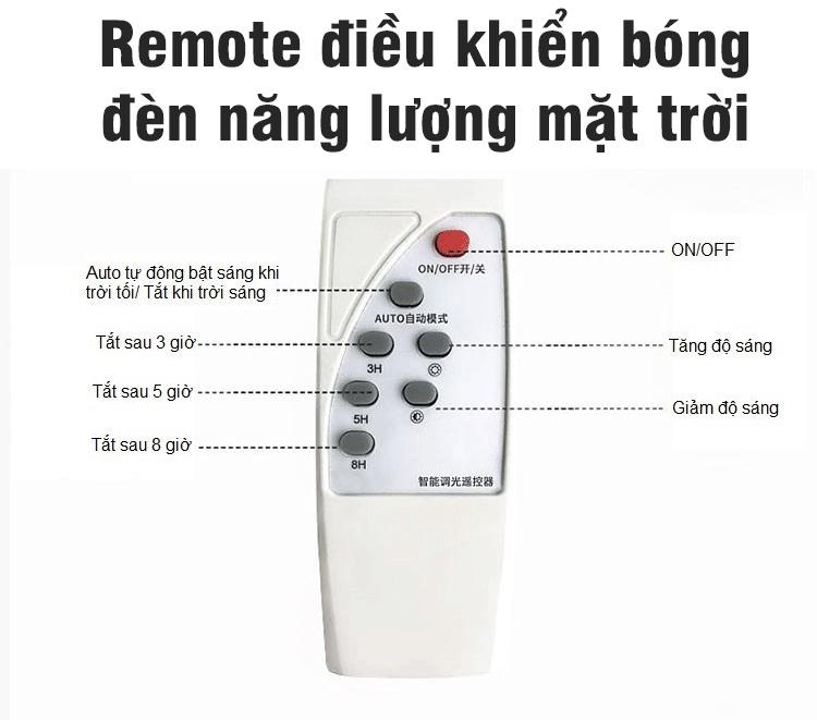 Remote điều khiển bóng đèn năng lượng mặt trời