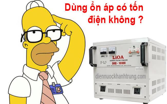 Dùng ổn áp có tốn điện không ?
