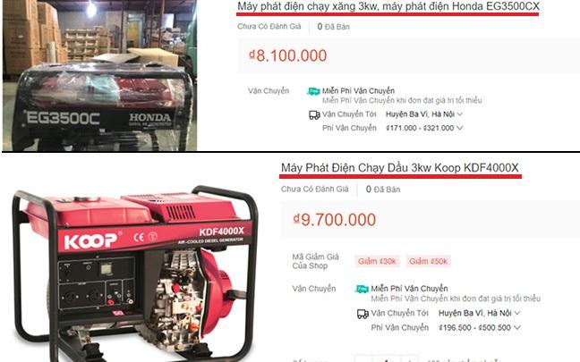 Giá bán máy phát điện
