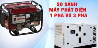So sánh máy phát điện một pha và ba pha