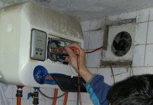 Bình nước nóng bị rò điện ra bên ngoài