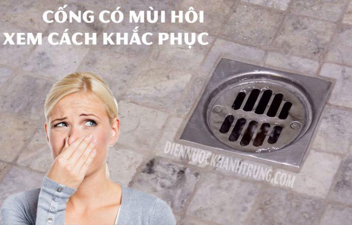 Cách khắc phục mùi hôi cống thoát nước