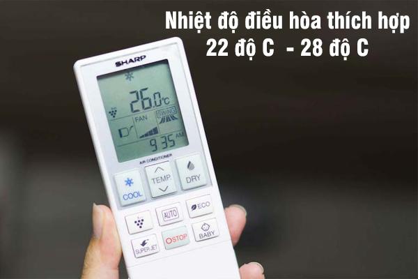 Cài đặt nhiệt độ điều hòa thích hợp