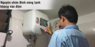 Nguyên nhân bình nóng lạnh không vào điện