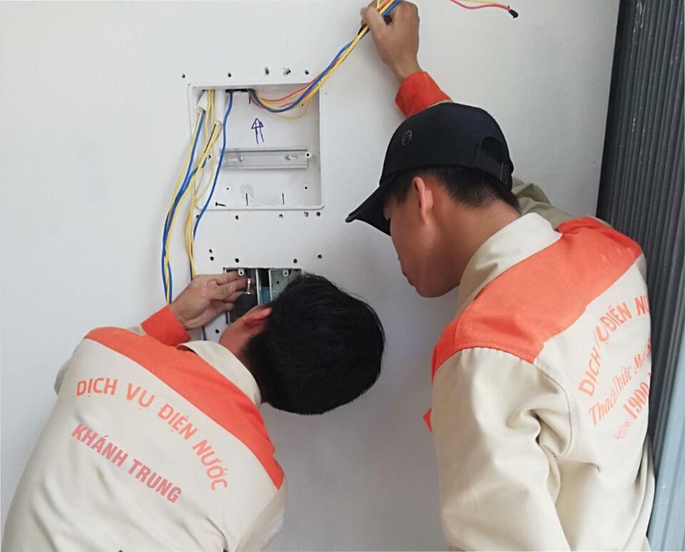 Sửa điện chập âm tường
